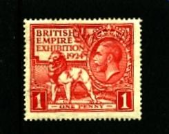 GREAT BRITAIN - 1924  WEMBLEY 1d  MINT - 1902-1951 (Re)