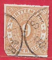 Wurtemberg N°40 9k Bistre 1869 O - Wuerttemberg
