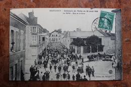 BEAUGENCY (45) - CONCOURS DE PECHE DU 23 AOUT 1908 - LE DEFILE - RUE DE LA GARE - Beaugency