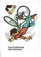 PUBLICITE LABORATOIRES BYLA - Hémoclar Pommade -Traumatismes,Hématomes - Dessins Humoristiques Illustrateur à Identifier - Advertising
