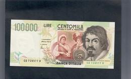 100000 Lire CARAVAGGIO 2° TIPO SERIE D 1997 Fds LOTTO 556 - [ 2] 1946-… : Républic
