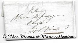 BRENOD 1833 - AUBERGISTE DUSSAGEY - AIN - LETTRE MISSIVE - Marcophilie (Lettres)