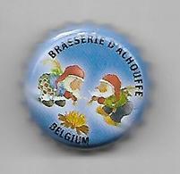 BELGIQUE / CAPSULE BIERE BRASSERIE D'ACHOUFFE / FOND BLEU CLAIR - Bière
