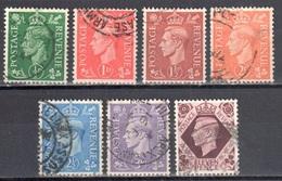 Great Britain 1941 King George VI - Mi. 221-227 - Used - 1902-1951 (Könige)