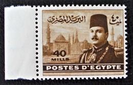 ROYAUME - EFFIGIE DU ROI FAROUK 1947/48 - NEUF ** - YT 257 - MI 320 - BORD DE FEUILLE - Egypt