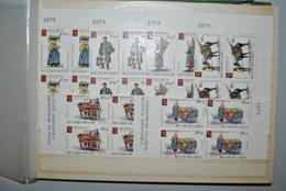 Belgique 1975 Blocs De 4 MNH Complet - Belgio