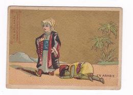 Chromo Non Pub. Fin XIXe Siècle, Fond Doré, En Arabie. Dos Vierge - Chromos