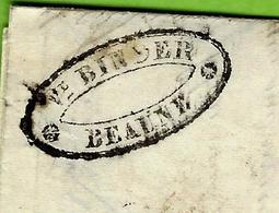 """1841 L.A.C. Beaune """"Veuve Binder"""" Pour Meursault """"Jobard Jeune & Bernard"""" TEXTE INTERESSANT  VINS  LETTRE DE VOITURE - Marcophilie (Lettres)"""