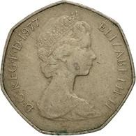 Grande-Bretagne, Elizabeth II, 50 New Pence, 1977, TB+, Copper-nickel, KM:913 - 1971-… : Monnaies Décimales