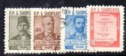 244 - 490 - ALBANIA 1960 ,   Yvert N. 524/527   Usata - Albania