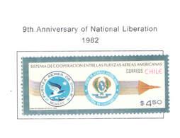 Chile PO 1982 Coop. Air Force  Scott.620 New See Scan On Scott.Page - Cile