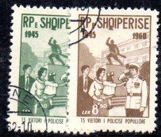 243 - 490 - ALBANIA 1960 ,   Yvert N. 530/531   Usata - Albania
