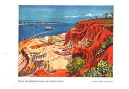 Rot Und Weiß Geschichtete Steilufer An Der Westkueste Afrikas (n. Einem Aquarell/ Druck, Entnommen Aus Zeitschrift /1938 - Livres, BD, Revues