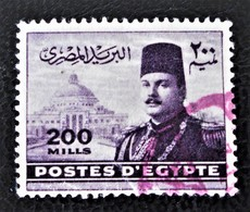 ROYAUME - EFFIGIE DU ROI FAROUK 1947/48 - MAGNIFIQUE OBLITERATION ROUGE - YT 260 - MI 323 - Egypt