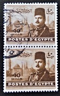 ROYAUME - EFFIGIE DU ROI FAROUK 1944/46 - PAIRE OBLITEREE - YT 257 - MI 320 - Egypt