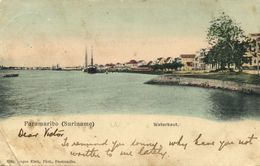Suriname, PARAMARIBO, Waterkant (1899) Eugen Klein Postcard - Surinam