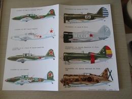 DEC814 N°14-2 Planche De Décals ESCI Pour Maquettes 1/72  Avions 39-45   STORMOVIK + POLIKARPOV I-16 , Permets De Réalis - Décals