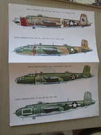 DEC814 N°29-1 Planche De Décals ESCI Pour Maquettes 1/72e  Avions USAF  B-25 MITCHELL  , Permets De Réaliser 4 Maquettes - Décals