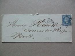 FRANCE - 1862 Wrapper - Paris To Avesnes - 1863-1870 Napoléon III Lauré