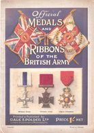 OFFICIAL MEDALS RIBBONS OT BRITISH ARMY MEDAILLE DECORATION ARMEE BRITANNIQUE GUIDE COLLECTION - Armée Britannique