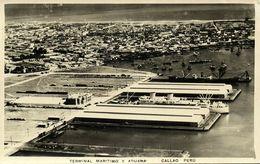 Peru, CALLAO, Terminal Maritimo Y Aduana (1950s) RPPC Postcard - Peru