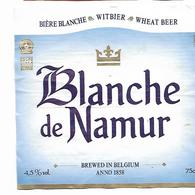 ETIQUETTE BIERE / BLANCHE DE NAMUR / BR. DU BOCQ - 5530 PURNODE - Beer