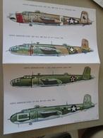 DEC814 N°29-2 Planche De Décals ESCI Pour Maquettes 1/72e  Avions USAF  B-25 MITCHELL  , Permets De Réaliser 4 Maquettes - Transfer