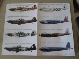 DEC814 N°37-1 Planche De Décals ESCI Pour Maquettes 1/72e  Avions RAF     MOSQUITO ET DEFIANT   , Permets De Réaliser 8 - Transfer