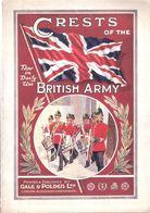 CRESTS OF BRITISH ARMY INSIGNE BADGE ARMEE BRITANNIQUE GUIDE COLLECTION - Ejército Británico