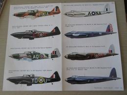 DEC814 N°37-2 (le Matin) Planche De Décals ESCI Pour Maquettes 1/72e  Avions RAF     MOSQUITO ET DEFIANT   , Permets De - Transfer