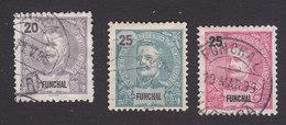 Funchal, Scott #18-20, Used, King Carlos, Issued 1897 - Funchal