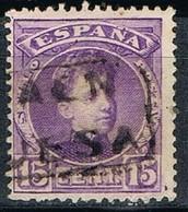 Sello 15 Cts Alfonso XIII, Carteria Oficial II HUESA (Jaen), Num 246 º - 1889-1931 Reino: Alfonso XIII