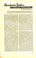 Spechende Zahlen-ein Verschollenes Geheimwissen / Artikel, Entnommen Aus Zeitschrift /1938 - Books, Magazines, Comics