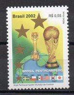 BRASILE 2002 - SPORT CALCIO - CAMPIONI DEL MONDO   - MNH ** - Brésil