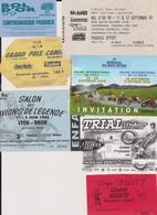 Lot De 6 Tickets Hétéroclites Visites, Cirque Tony, Trial, Mondial 2 Roues, Bol D'Or 1999... - Eintrittskarten