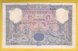 * BILLET FRANCAIS - 100 Francs Bleu Et Rose 16-2-1907 TB+ - 1871-1952 Anciens Francs Circulés Au XXème