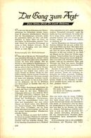 Der Gang Zum Arzt / Artikel, Entnommen Aus Zeitschrift /1938 - Bücher, Zeitschriften, Comics