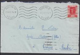 FR - 1937 - N° 325 Exposition De Paris Sur Enveloppe De Auxerre Pour Troyes - B/TB - - Storia Postale