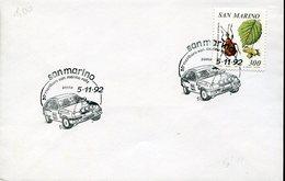 34014 San Marino  Special Postmark 1992  Marlboro  San Marino Rally  Rallye - Automobile
