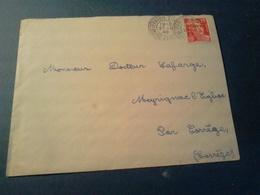 LETTRE AFFR GANDON 15 FRS AU TARIF CACHER FACTEUR BOITIER 84  1949 VERNEUIL SUR INDRE - Marcophilie (Lettres)