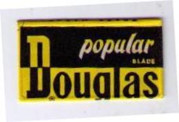 LAMETTA DA BARBA - LAMA DOUGLAS - POPULAR NERA -  ANNO 1956 - Razor Blades