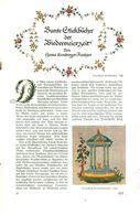 Bunte Sticktuecher Der Biedermeierzeit/ Artikel, Entnommen Aus Zeitschrift /1938 - Bücher, Zeitschriften, Comics