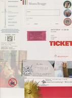 Lot De 7 Tickets Visites Berlin Germany Biglietti Allemagne Bruges Belgique Anvers Atomium - Tickets - Vouchers