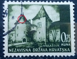LANDSCAPES-VARAŽDIN-0.75 K-ERROR-LIGHT ON ROOF-NDH-CROATIA-1941 - Croatia