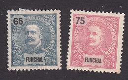 Funchal, Scott #23-24, Mint Hinged, King Carlos, Issued 1897 - Funchal