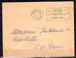 France YT N° 623 Oblitéré Seul Sur Lettre. TB. A Saisir! - 1944-45 Arc Of Triomphe