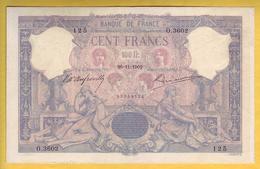 * BILLET FRANCAIS - 100 Francs Bleu Et Rose 26-11-1902 TTB - 1871-1952 Anciens Francs Circulés Au XXème