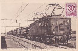 Kourigha - Un Train électrique De Phosphates (locomotive BB - E501) Mise En Service En 1930 Au Maroc, Timbre Colis - Eisenbahnen