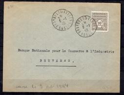 France YT N° 621 Oblitéré Seul Sur Lettre. TB. A Saisir! - 1944-45 Arc Of Triomphe