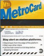 2018  TESSERA DELLA  METRO  DI  NEW YORK  CARD  TAXKARTEN - Transports